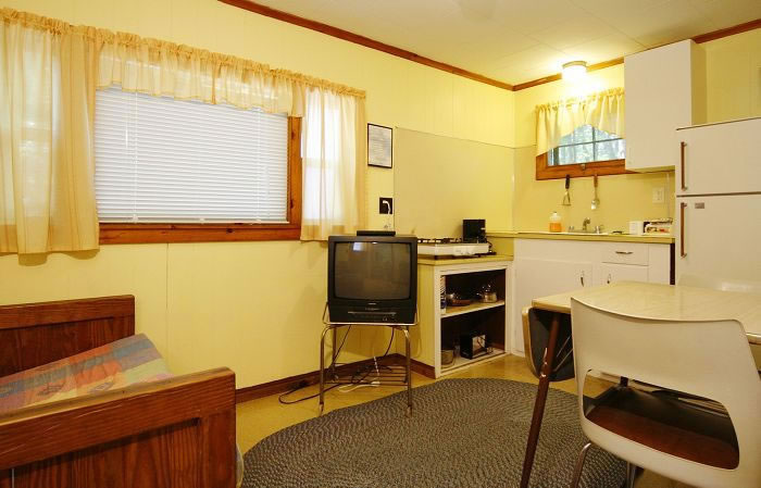 ... size bed, air-conditioning, kitchenette and private bath with shower